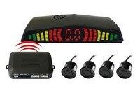 Wireless Car LED Parking Sensor Backup Reverse Rear View Radar Alert Alarm System with 4 Sensors