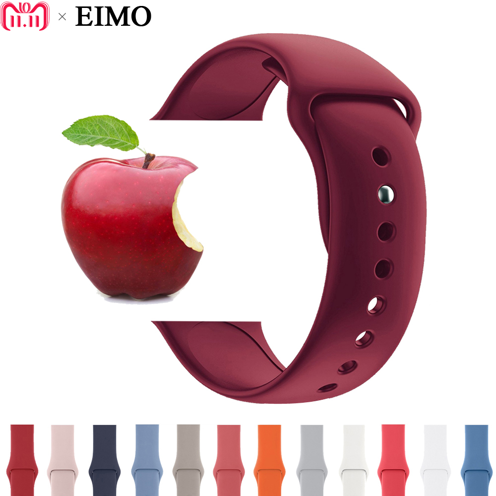 Sport Silicone band strap For Apple Watch band 42 mm 38mm Rubber bracelet watchband black white strap for Iwatch series 3/2/1
