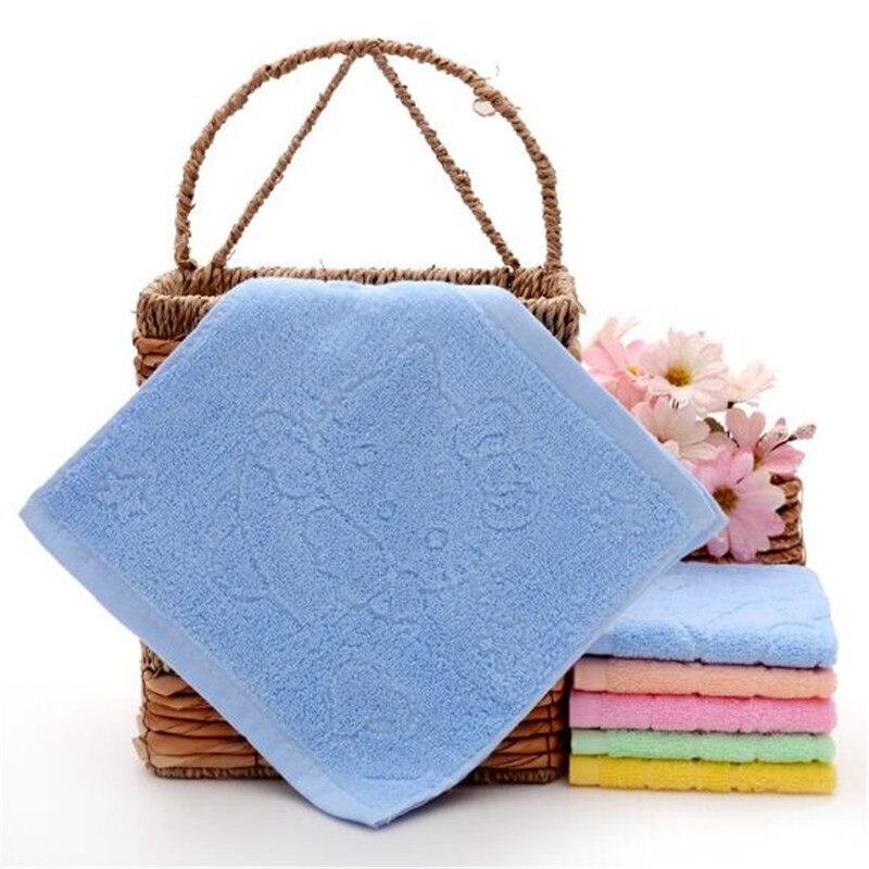 SexeMara 5pcs Cotton Hello Kitty Baby Towel Jacquard Scarf 25X25 Cartoon KT Cat Face Towel Kindergarten Kids towel Girls Boys