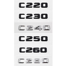 C230 C220 C240 C250 C260 C280 Plastic Metalen Embleem voor Mercedes-benz AMG W204 W211 W163 Originele Sticker Auto badge Accessoires(China)