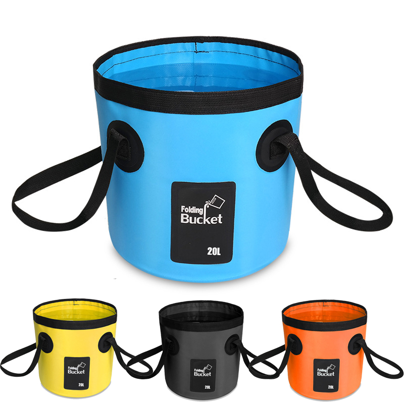 20L Folding Foldable Collapsible Sink Washbasin Bucket Wash Basin Camping Water Pot Bag Container Car Fishing Hiking