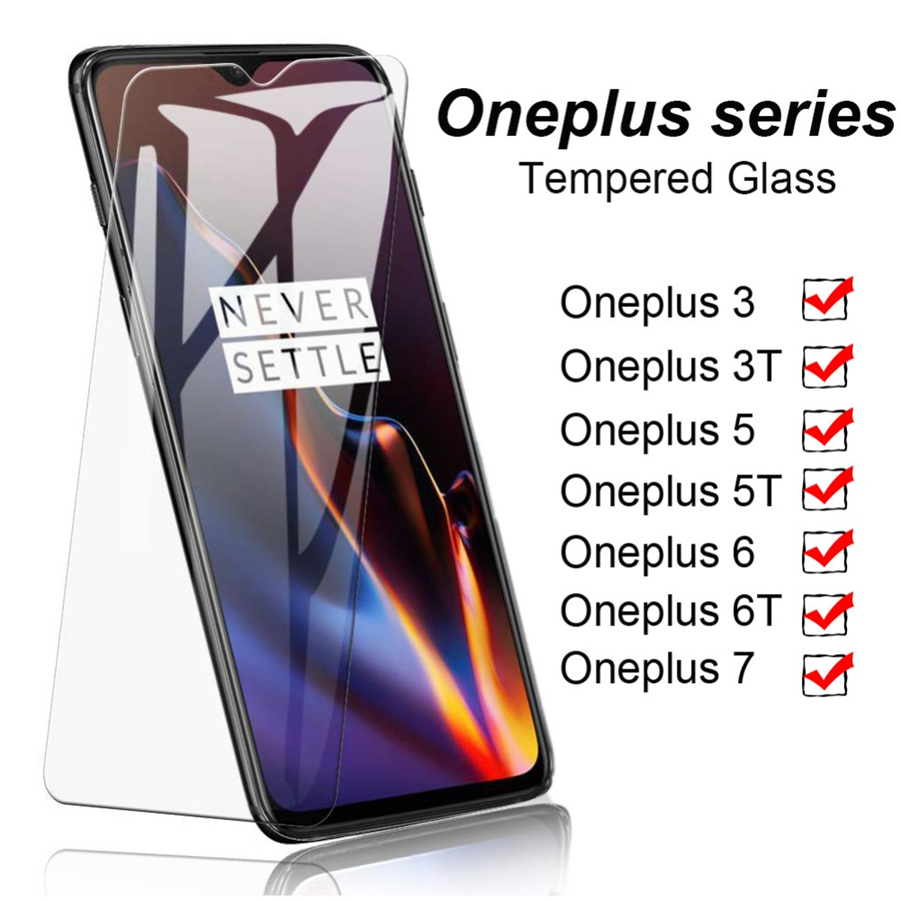 Protective Glass On The For Oneplus 7 7T Tempered Glass On One Plus 6 5 6t 5t Screen Protector For Oneplus 7 6 6t 3 3t 9h Film