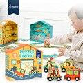 Детские 3D большие бумажные пазлы  38 шт.  развивающие игрушки