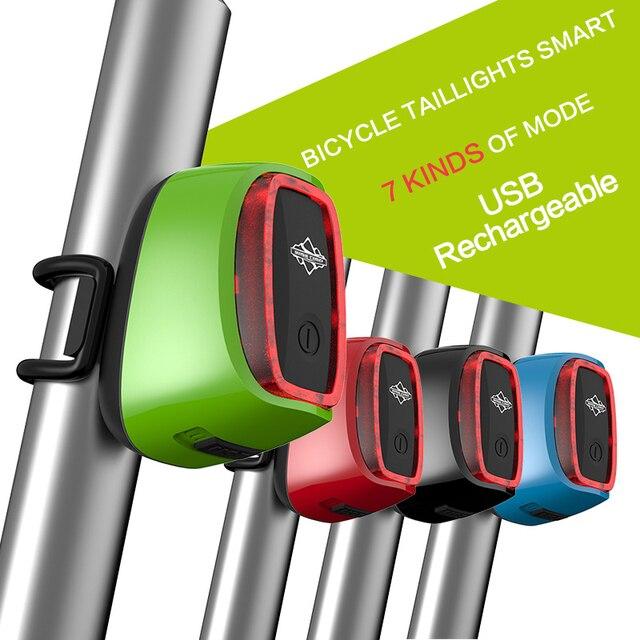 900 mah waterdichte usb batterij led fiets licht racefiets intelligente lamp achter seat post staart