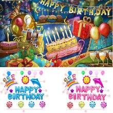 4 компл. Симпатичные Алфавит цветок счастливый день рождения украшения Дети Алюминий Фольга мембраны баллон шары украшения