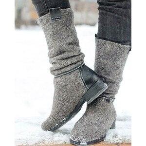 Image 5 - MORAZORA 2020 새로운 도착 발목 부츠 로우 힐 캐주얼 신발 가을 겨울 부츠 숙녀 큰 크기 35 47