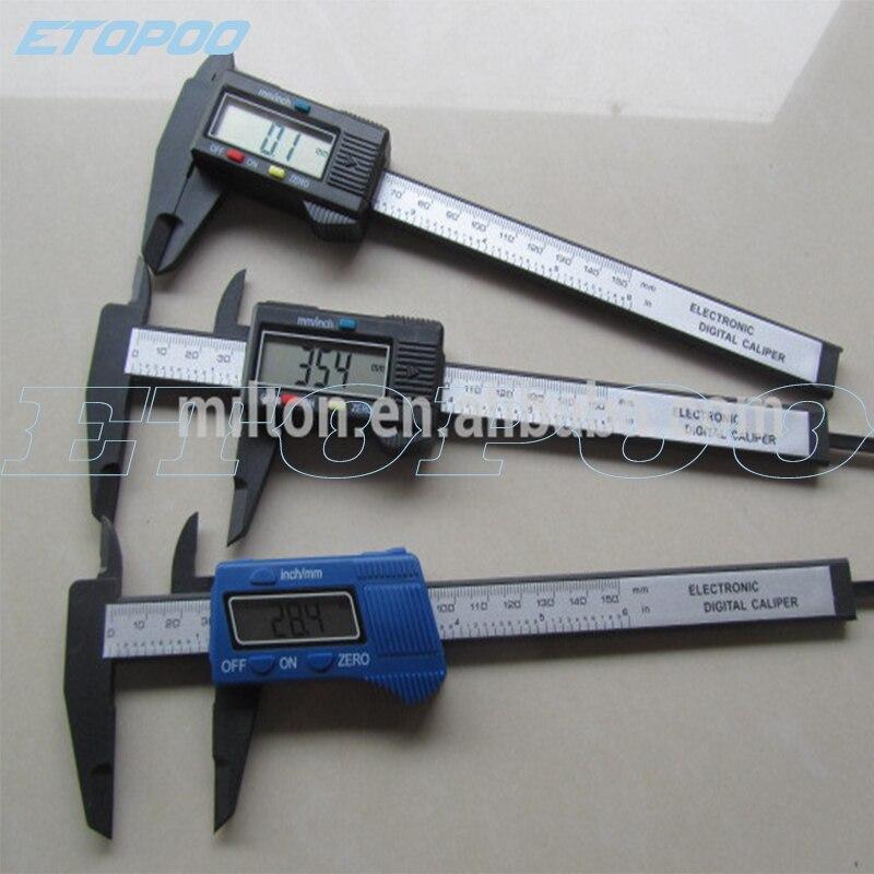 6 inch 150 mm Carbon Fiber Composite Vernier Digital Electronic Caliper measuring tools 10pcs lot