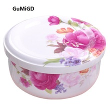 IL Bowl with cover ceramic bowl boxes microwave oven steamed  egg large of household porcelain