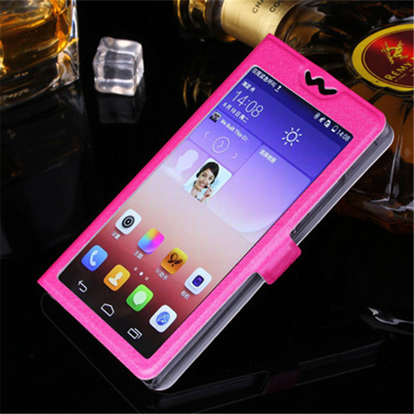 5 Colors With View Window Case For LG K8 Lte K350 K350E K350N 5 0 quot K 8 Luxury Transparent Flip Cover For LG K 8 Phone Case in Flip Cases from Cellphones amp Telecommunications