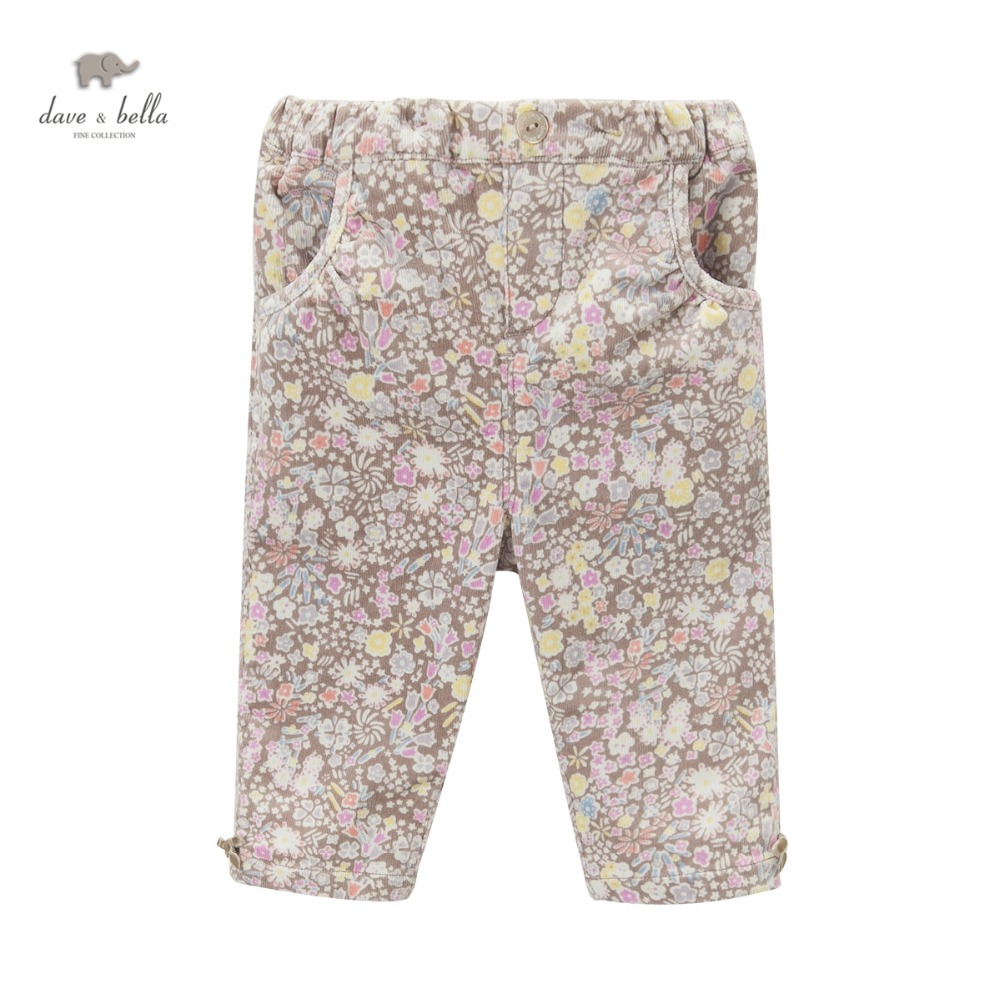 DB3694 dave bella autumn baby girls printed pants