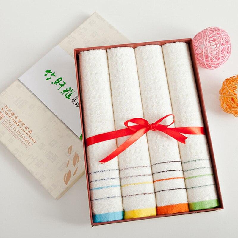 Bamboo Fiber Hand Towel 4piece/set Microfiber Towel Absorbent Plush Towels Bathroom Travel Towel Soft Face Cloth 34*72cm L 06