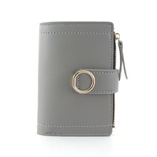 15PCS / LOT Women Short Wallet Small Fashion Brand Leather and Purse Ladies Card Bag 2018 Female Money