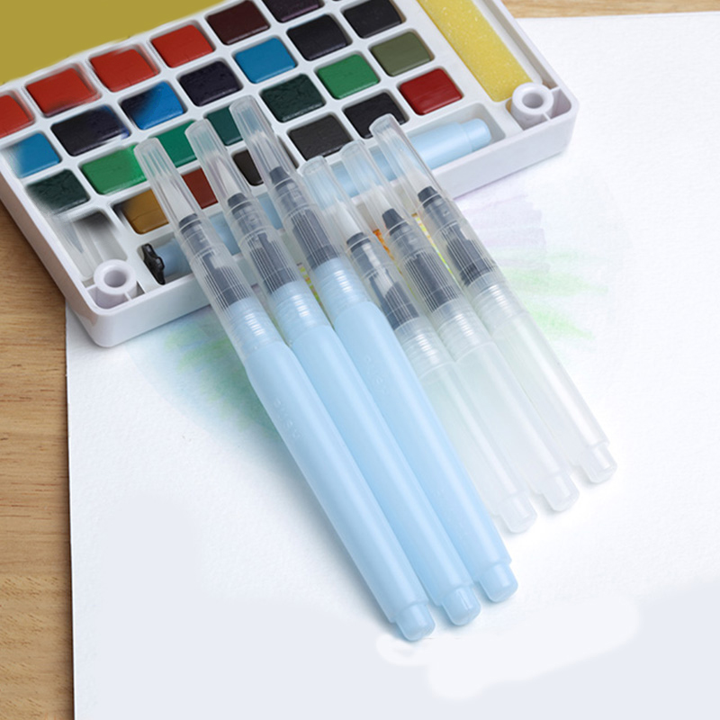 3PCS Watercolor Brush Pen Art Markers Water Tank Round Soft Brush Pen Set Calligraphy Drawing Pen Beginner Gift S/M/L