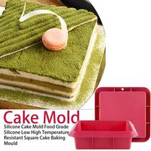 Food Grade Silicone Mold Low High Temperature Resistant Square Cake Baking Mould Non-toxic And Tasteless