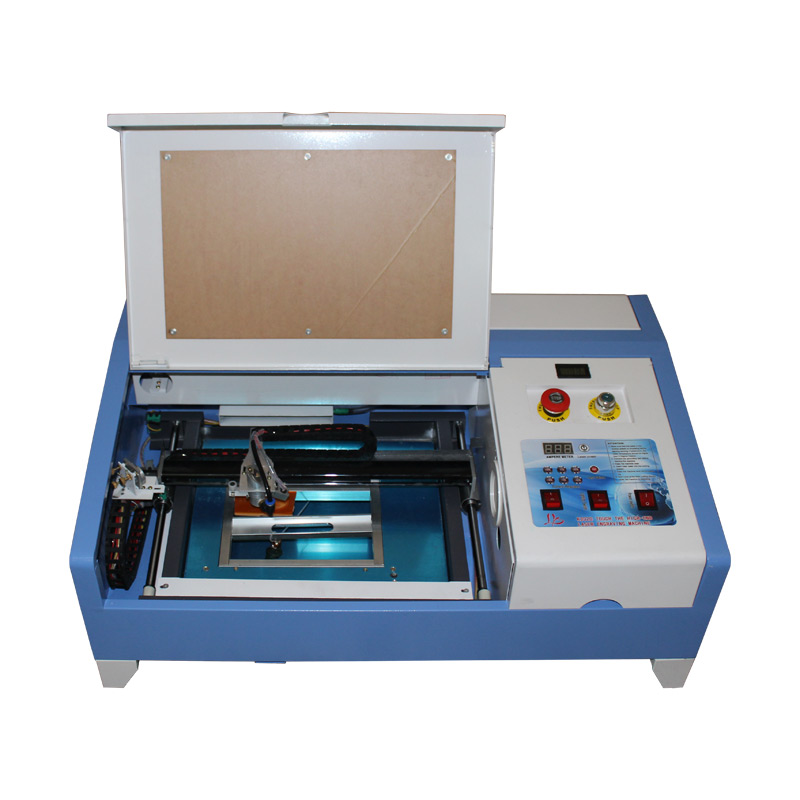 Laser Engraving Cutting Machine 3020 Stamp Maker CO2 With Digital Function And Honeycomb Table