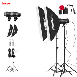 Flash Set AF-250 photo Studio kit 250W Indoor Photography Light suit SoftBox lamp holder double lights equipment pack CD50 T10A