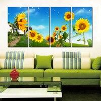 Modern Wall Art Decorative Canvas Printings High Definition Sunflower Print on Canvas Waterproof Spray Painting Decor Artwork