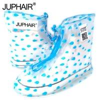 JUP Reusable Covers Slip Resistant Zipper Rain Boot Overshoes Environmental Protection PVC Waterproof Wear Resistant Shoes