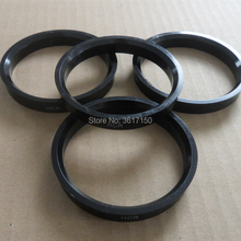 71.5×78.1 Conjunto de 4 Anéis de Cubo de Roda 71.5 ID 78.1 OD Hub Centric Anéis De Plástico Policarbonato