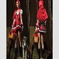 Новый 2016 Популярные Сексуальная Красная Шапочка Взрослый Костюм Косплей Платье Хэллоуин Карнавальный Костюм Красное Платье