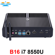 Mini PC Intel Core i7 8550U de 8. ª generación, Quad Core, 4,0 GHz, 8MB, caché, Sin ventilador, Mini ordenador Win 10 4K, HTPC, Intel UHD Graphics 620, Wifi