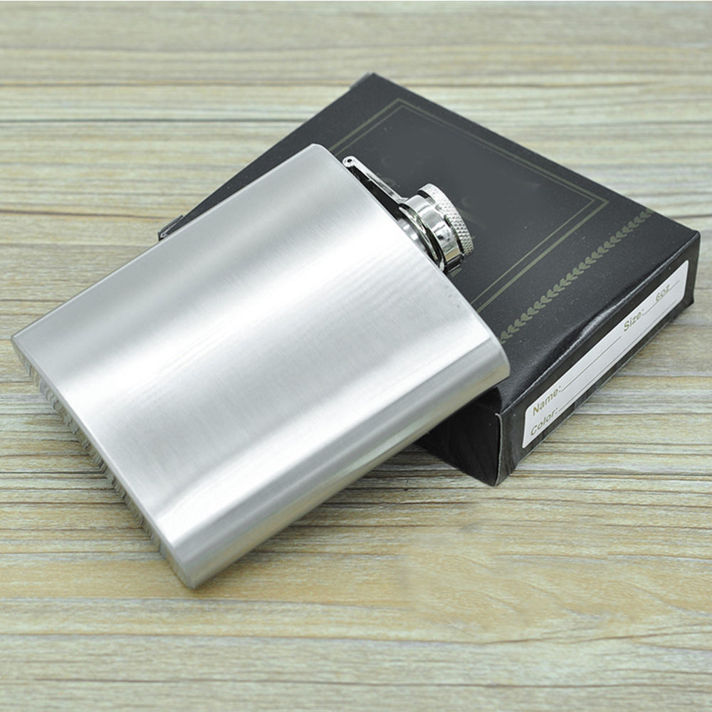 1-18 oz Hip Flask Hip Flasks Plain Glitter Stainless Steel Whisky Flask Funnel