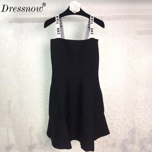 Высокое качество спагетти ремень платье Подиумные платья летние женские Элитная одежда