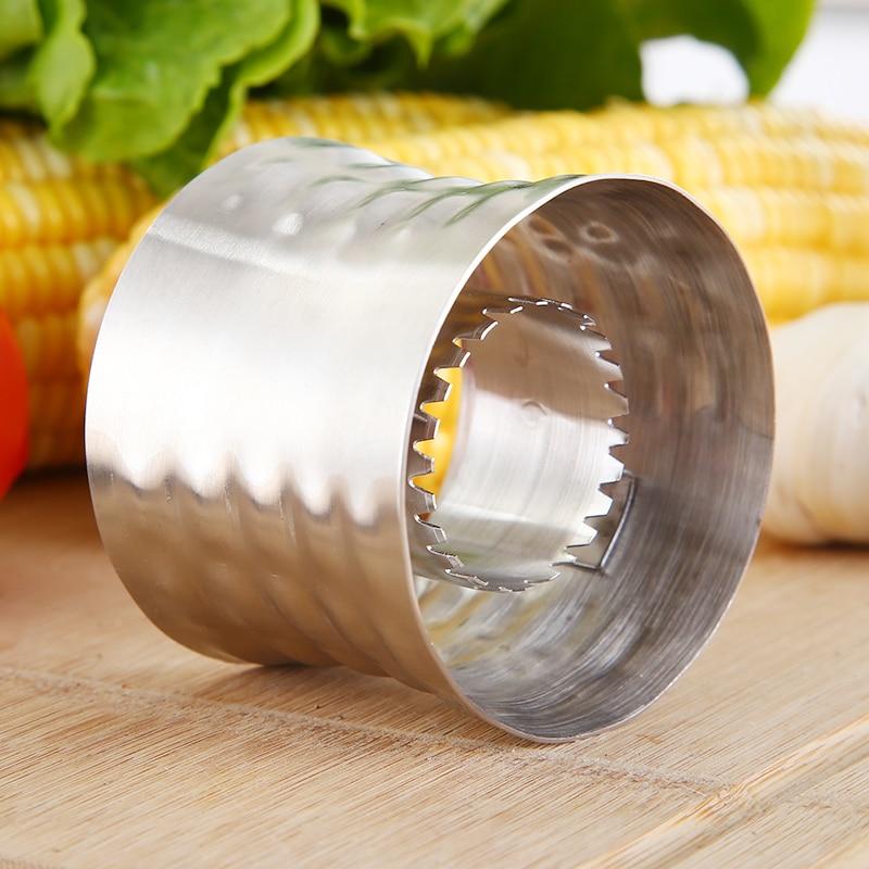Kitchen Gadgets Corn Stripper Stainless Steel Corn Cob Peeler Slicer Circular Corn Cutter Scraper Vegetable Tools Peeler Corer  (2)