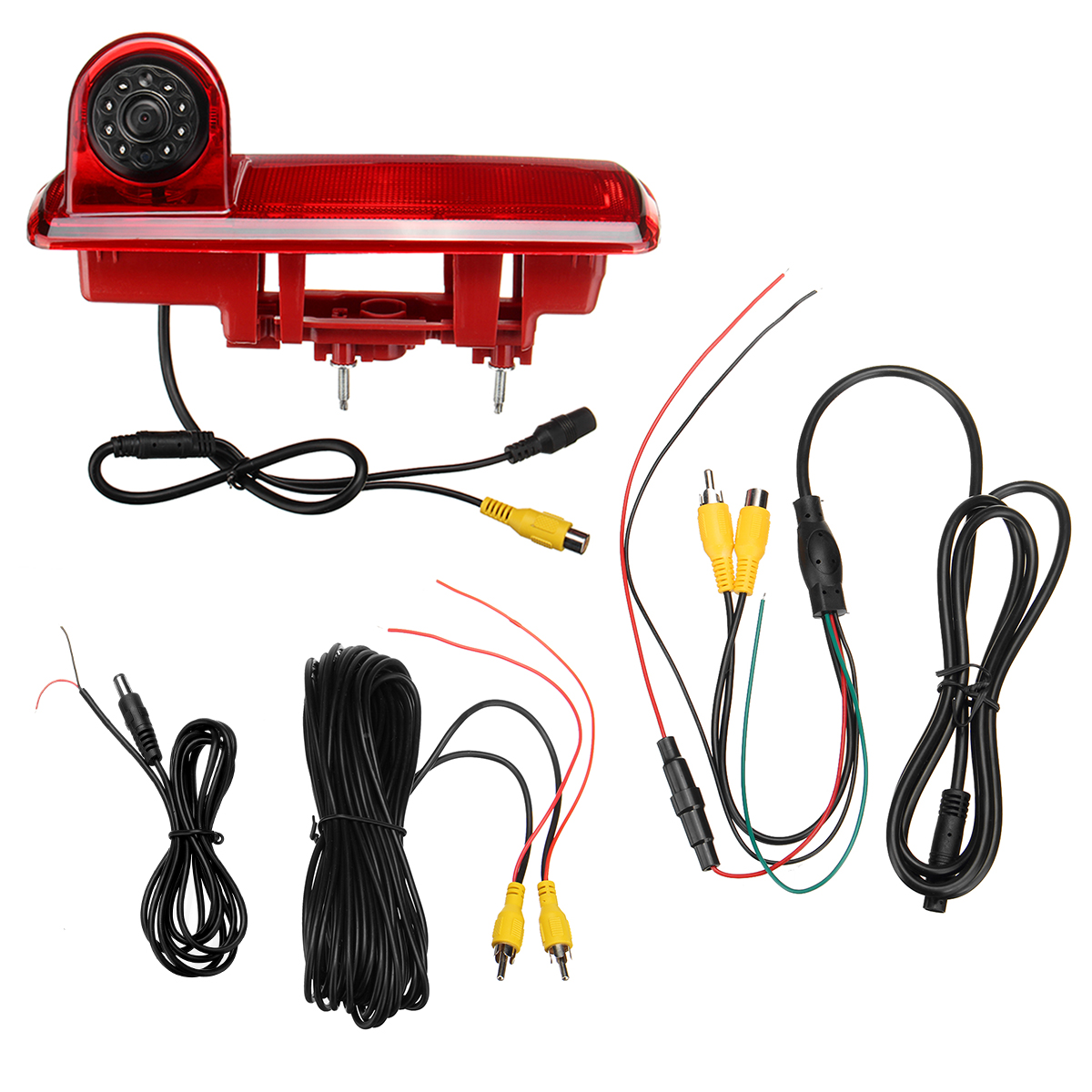 For Renault LED IR Brake Light Rear View Reversing Parking Camera & 7 Inch Monitor Kit For Brake Light Integration 2014 Present