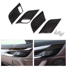 Samochód ABS Chrome/tekstury z włókna węglowego bezpieczeństwa klamka miska pokrowiec na BMW X5 F15 2014 2015 2016 2017X6 F16 2015 2018