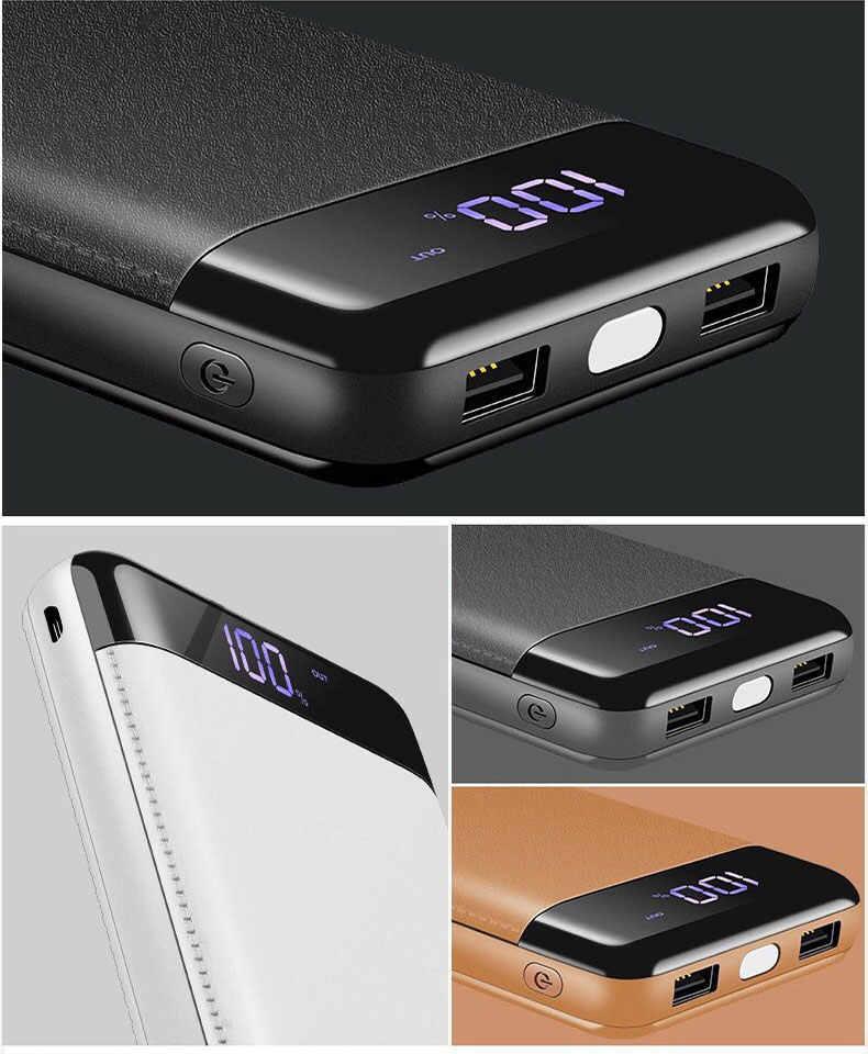 الحقيقي 30000mah تجدد Powerbank المحمولة الهاتف المحمول شاحن قوة البنك بطارية خارجية PoverBank USB ل شياو mi mi iphone XS ماكس 7 8
