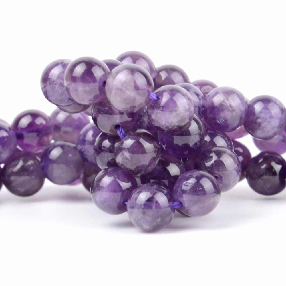 4 6 8 10 12mm Natural Minerals 7 Chakra Healing Stones Amethysts Lapis Lazuli Turquoises Round Beads For Diy Jewelry Making 15""