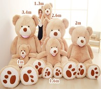 130/160/260cm 3 color plush stuffed giant bear for girlfriend gifts