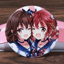 FFFPIN 5.8cm Anime Twins Large Brooch DIY Custom Sister Cartoon Breastpin Badge Horse Hooves Pin Coin Icon Backpack Decoration(China)