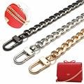 120cm Metal Stainless Steel Purse Chain Strap Handle Shoulder Crossbody Handbag Bag Belt Metal Replacement 3 Color