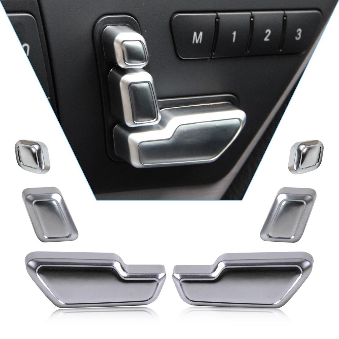 Beler Chrome Porte Siège Ajuster Bouton Interrupteur Couverture Garniture pour Mercedes Benz E GL CLS Classe W212 W218 X166