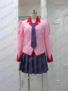 Bakemonogatari Cosplay Senjougahara Hitagi Uniform Costume any Size free shipping(China)