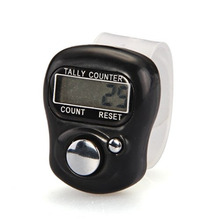 New Brand 1pc Nice Stitch Marker and Row Counter LCD Electronic Digit Finger Ring Digital Tally Counter Clicker Timer cheap Inpelanyu Electrical C0437 5-digit Counters 28 x 35 x 17 5mm Black Digital Finger Counter