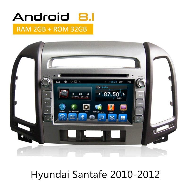 2 Din Auto Radio For Hyundai Santa Fe 2010 2011 2012 GPS Navigation Android 8.1 System CAR DVD GPS Deckless 3G Wifi Bluetooth