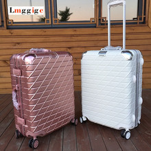 Aluminum body Suitcase,Multiwheel Luggage Carry-On,Nniversal wheel Hardside Travel Bag,Spinner Rolling Trolley Carrier field Case