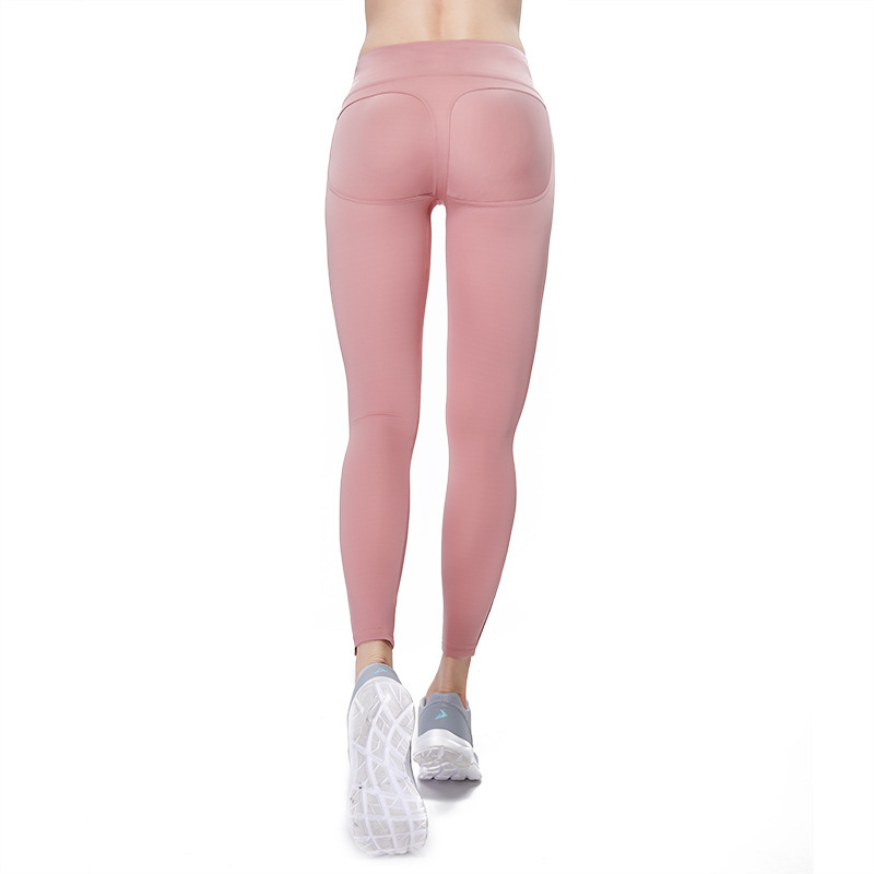 High Waist Leggings Women Solid Yoga Pants Push Up Professional Running Fitness Gym Sport Pants Lady Tight Stretch Long Trouser in Yoga Pants from Sports Entertainment