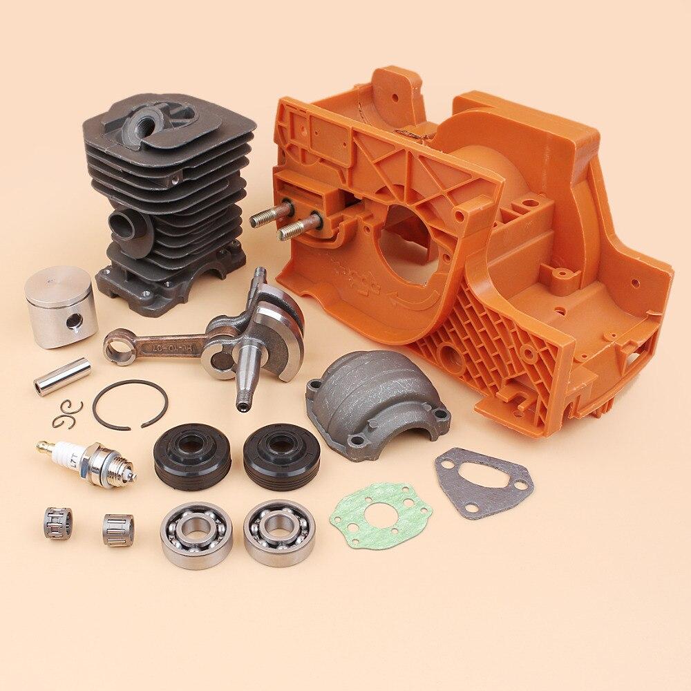 Tools : Crancase Crankshaft Cylinder Piston Pan Oil Seal Bearing Kit For HUSQVARNA 137 142 Chainsaw Engine Motor Spare Parts