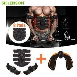 6 Режим Smart электрический стимулятор мышц пресса ABS ems Хип тренажер фитнес шейпер для ягодиц потеря веса, похудения массаж