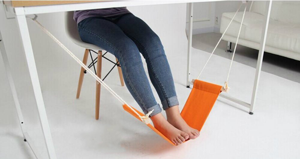Desk Feet Hammock Outdoor Rest Cot Portable Office Foot Hammock Mini Feet Rest Foot Chair Care Tool Beauty & Health Foot Care Tool