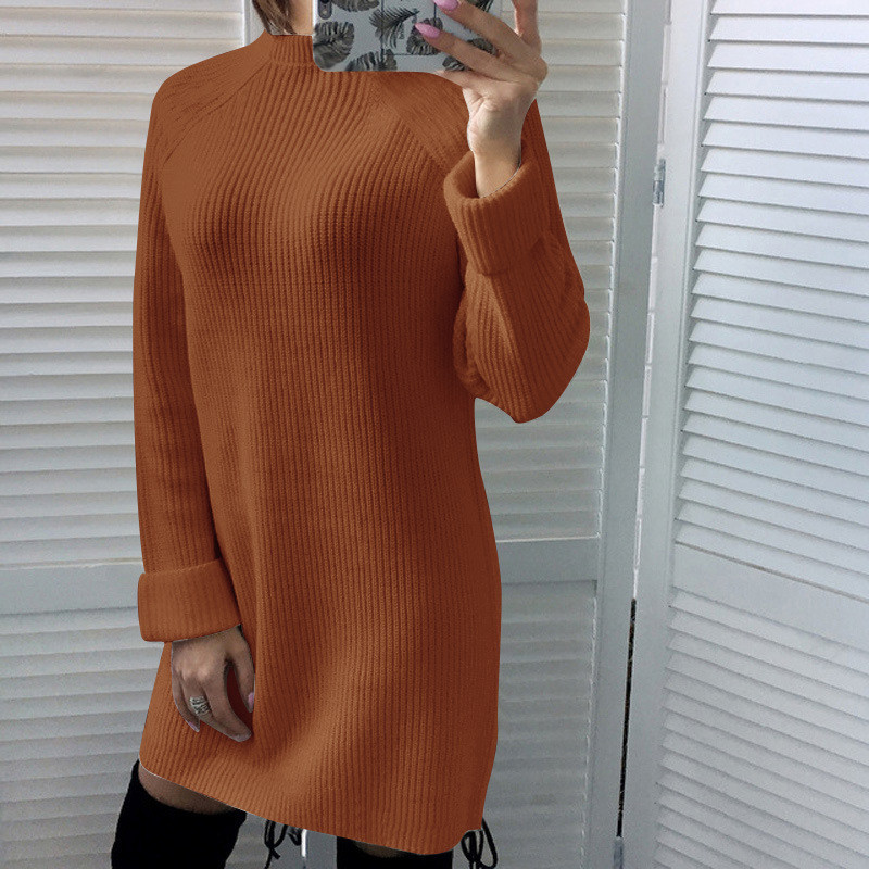 45d29a21544 knit sweater dress women 2018 autumn winter bodycon party dresses knitwear  sweaters mini dresses vestidos robe pull femme hiver -in Dresses from  Women s ...