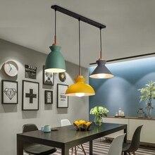 סט של 3 אוכל שולחן מנורת אורות קרון צבעוני LED מודרני תליון מנורת Hanglamp עבור אי במטבח תקרת חדר תאורה