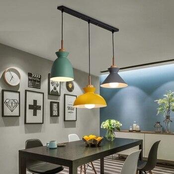 Conjunto de 3 lámparas de mesa de comedor luces Macaroon colorido ...