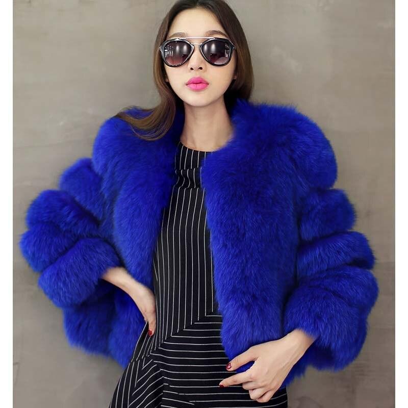 Black blue light Purple Veste Épais Faux white Femmes De Color Manteau Zadorin D'hiver red fox Luxe Pardessus 2019 En Haute purple Qualité Fausse Courte Chaud Fourrure 3jcS5AL4Rq