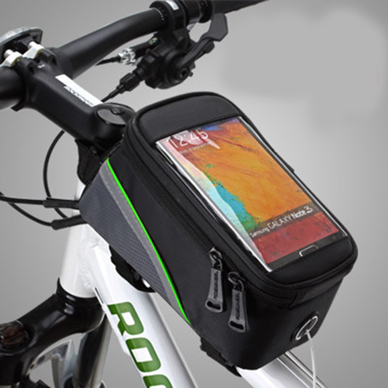 Outdoor Riding Bicycle Bag BICYCLE BAGS CYCLING BIKE FRAME IPHONE BAGS HOLDER PANNIER MOBILE PHONE BAG CASE 4.2