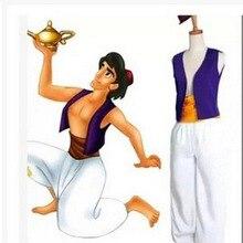 S-3XL взрослых Лампа Аладдина Костюм Принца Алладина костюм на Хэллоуин Аниме Косплэй нарядное платье Адам принц костюмы